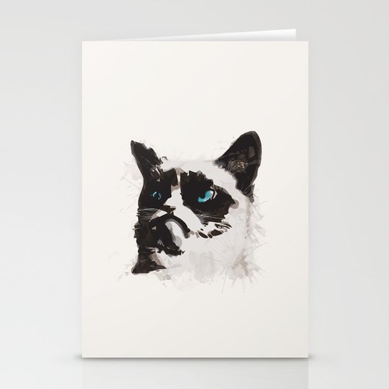 Cat that's Grumpy Stationery Card