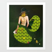 WOMEN - GREEN Art Print