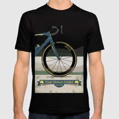 Tour Down Under Bike Race SMALL Mens Fitted Tee Black