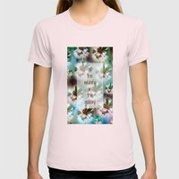 COLLAGE LOVE: All The Wi… Womens Fitted Tee Light Pink SMALL