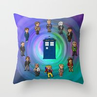 O'Clocktor Who Throw Pillow
