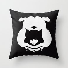 Cartoon Food Chain Throw Pillow