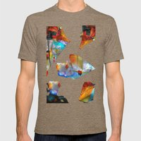 Cubism Mens Fitted Tee Tri-Coffee SMALL