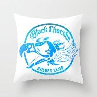 Black Chocobo Riders Club Throw Pillow
