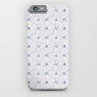 iPhone & iPod Case featuring Stuga pattern, white by Jennifer Reynolds