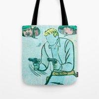 The Unknown Rider Comic Book Panel Tote Bag