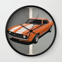 Camaro- Orange Wall Clock