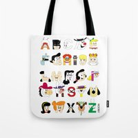 Child Of The 60s Alphabe… Tote Bag