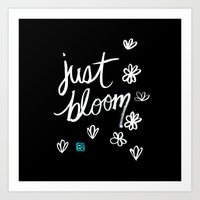 Just Bloom Art Print