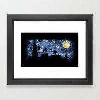 Starry Fight Framed Art Print
