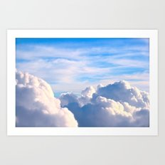 Clouds of Cream Art Print