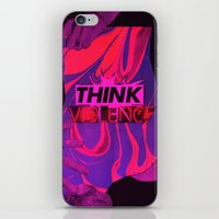 THINK VIOLENCE  iPhone & iPod Skin