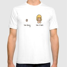 Becoming a He-Man Mens Fitted Tee White SMALL