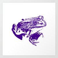 purple frog II Art Print