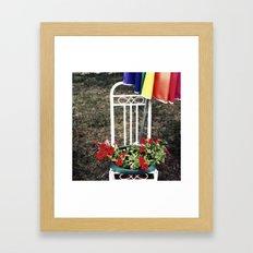 Red. Framed Art Print