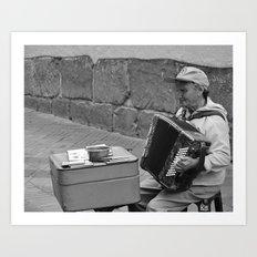 Ecuadorian Street Musician Art Print