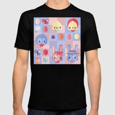 Happy Easter! Pattern Mens Fitted Tee SMALL Black