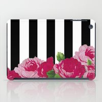 Bold Stripes with Flowers iPad Case