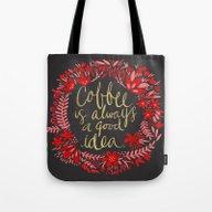Coffee On Charcoal Tote Bag