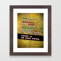 No Such Thing Framed Art Print