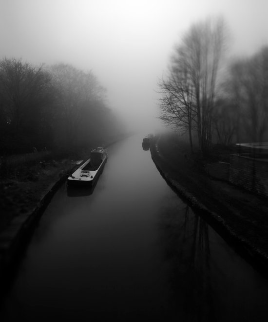 Canal fog Art Print
