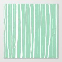 Vertical Living Mint Canvas Print
