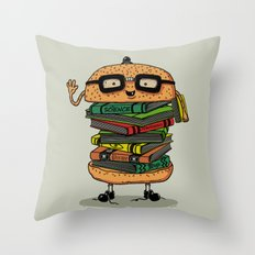 Geek Burger Throw Pillow