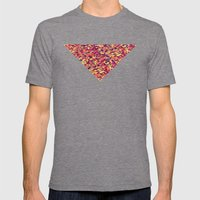 Triangle Pattern Mens Fitted Tee Tri-Grey SMALL