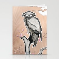 Owl On The Branch With A… Stationery Cards
