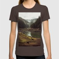 T-shirt featuring Foggy Forest Creek by Kevin Russ