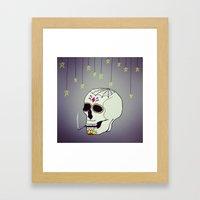 Skull Chill Out Framed Art Print
