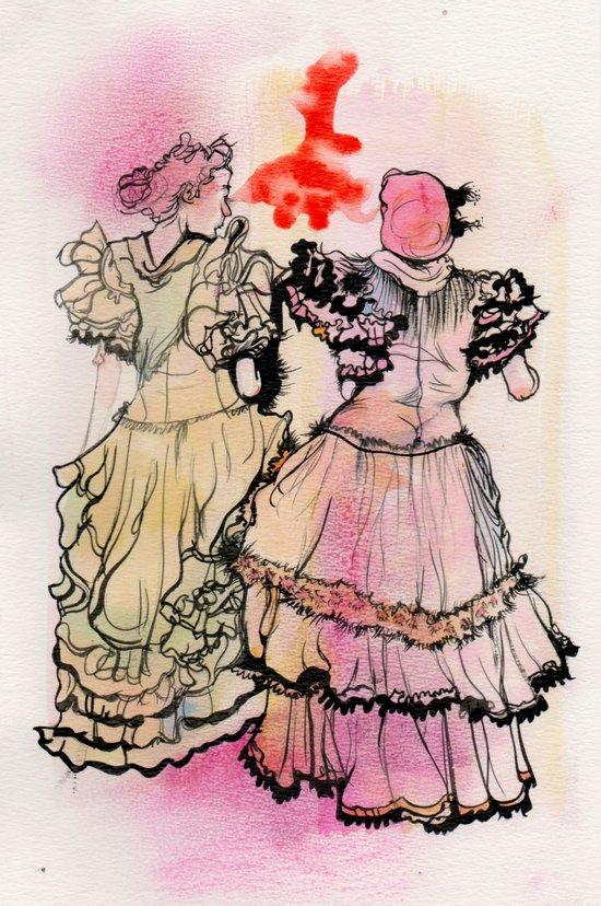 Ladies of Seville Art Print