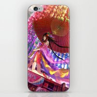 Niji Karakasa (Rainbow Umbrella) iPhone & iPod Skin