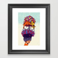 Full head Framed Art Print