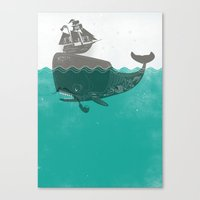 Belly of the Whale - Hipster Edition (with pirates) Canvas Print