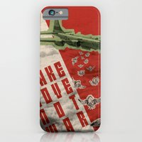 iPhone & iPod Case featuring Make Love not war by Les Hameçons Cibles