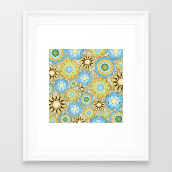 English Country Floral Framed Art Print
