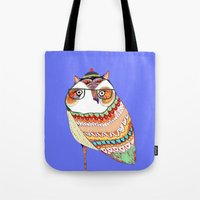 Owl, owl art, owl illustration, owl print,  Tote Bag