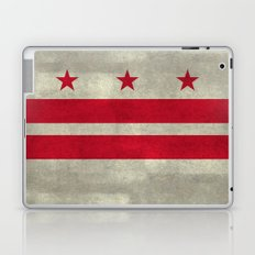 Washington D.C flag with worn stone marbled patina Laptop & iPad Skin