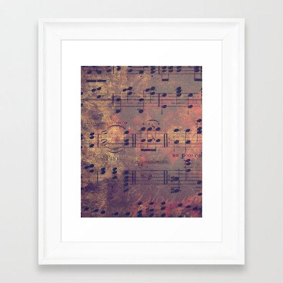 Notes I Keep Framed Art Print