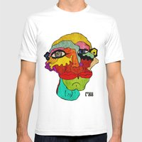 Double Mens Fitted Tee White SMALL