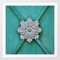 Door Detail - Old City J… Art Print