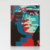 Portrait in Red Stationery Cards