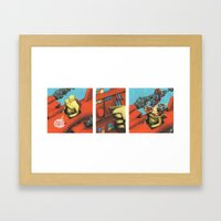 TEST PILOT Framed Art Print