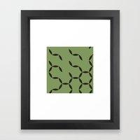 #92 Circular spring – Geometry Daily Framed Art Print