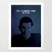 Leonard on Logic Art Print