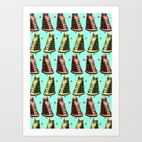Doctor Who: Dalek Pattern Art Print