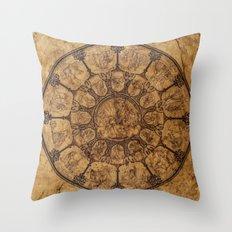 Wheel of time Throw Pillow