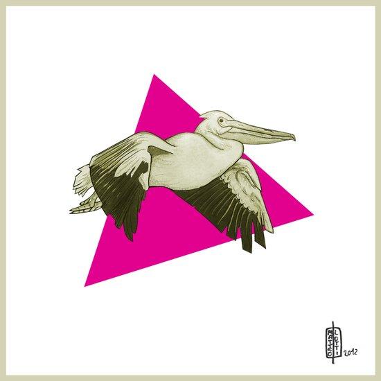 Pelican Digital Art Print