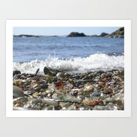 Glass Beach, California Art Print